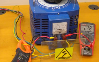 10. Set variac at 22V. The operating voltage range lies between 22-30V