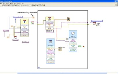 8. Changing sample rate in the Block diagram window