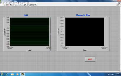 9. Labview file for observing induced EMF and magnetic flux