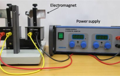 2. Connection of electromagnet with power supply.