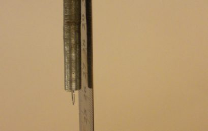 3. A spring attached to the metre rule
