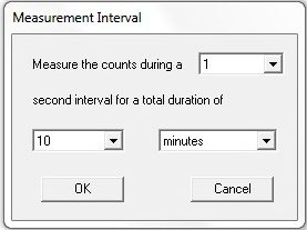 8. Measurement menu for selecting a specific time interval
