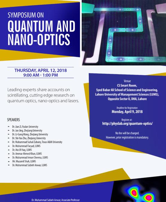 Symposium on Quantum and Nano-Optics (12th April 2018)