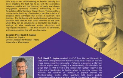 The Peculiar Story of Chirality |  Abdus Salam Memorial Lecture
